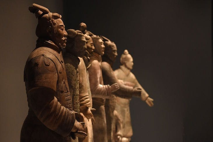 Installation view from 'China's First Emperor and the Terracotta Warriors' at the World Museum, Liverpool (9 February–28 October).