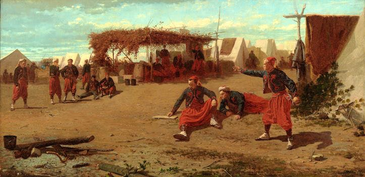 Pitching Quoits (1865), Winslow Homer.