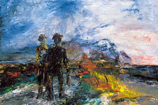 The Two Travellers (1942; detail), Jack B. Yeats.