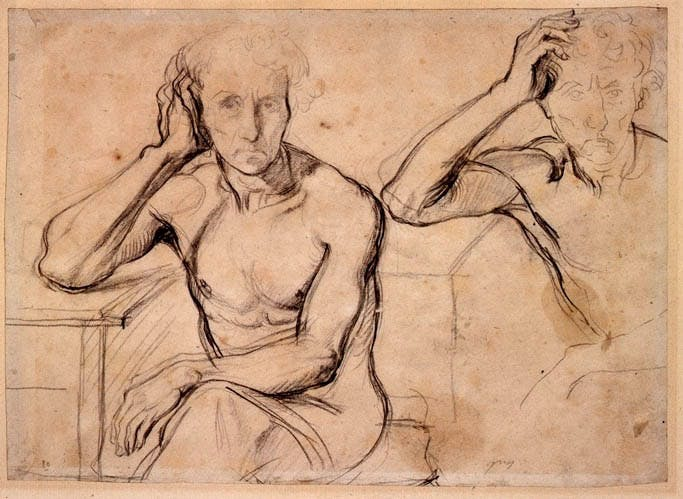 Study for Luigi Cherubini and the Museum of Lyric Poetry (c. 1834), Jean-Auguste-Dominique Ingres