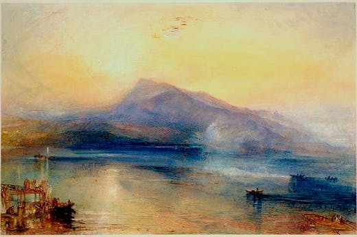 The Dark Rigi, The Lake of Lucerne (1842), J.M.W. Turner.