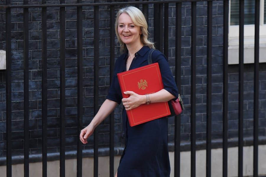 Liz Truss, the UK International Trade Secretary outside 10 Downing Street. Photo: Getty/Chris J Ratcliffe