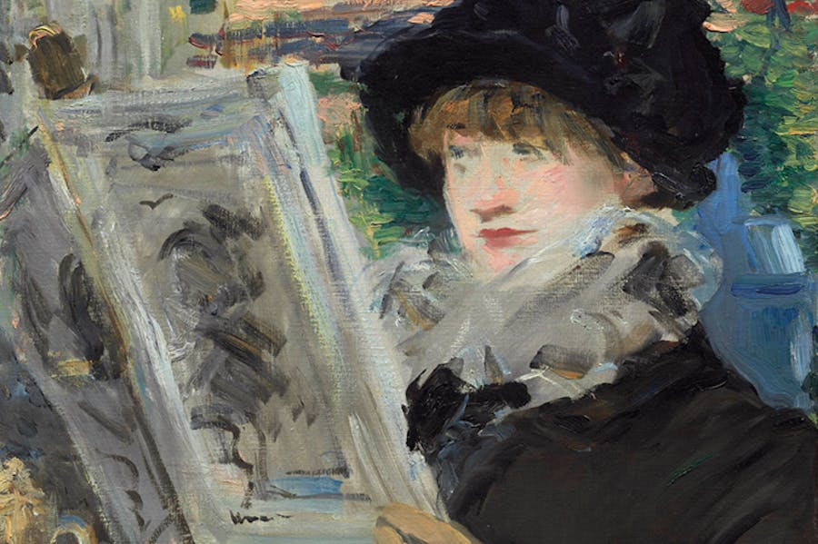 Woman Reading (detail; c. 1880–81), Édouard Manet. Art Institute of Chicago