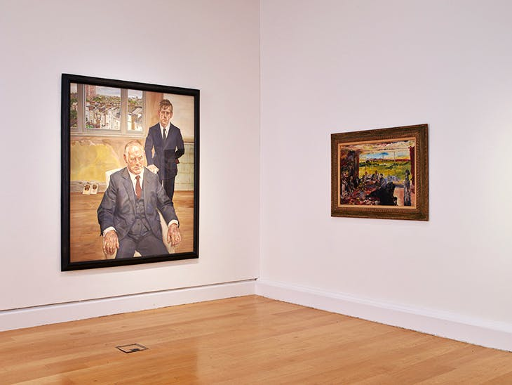 Installation view of 'Life above Everything: Lucian Freud and Jack B. Yeats' at the Freud Centre, IMMA, Dublin.