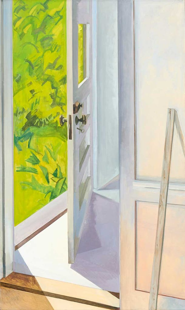 Front Door Cushing (1982), Lois Dodd.