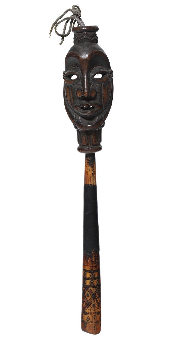 Amulet with mask (19th/early 20th century), Loango, Democratic Republic of Congo. Musée d'Art Moderne, Troyes.