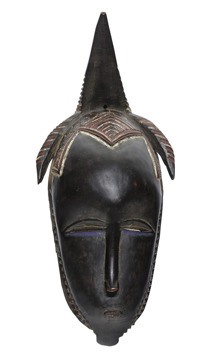 Mask (19th/early 20th century), Guro, Ivory Coast. Musée d'Art Moderne, Troyes.