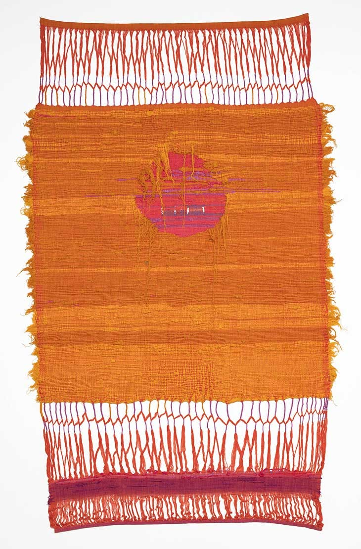 Learning to Weave in Taxco, Mexico (1960), Sheila Hicks.