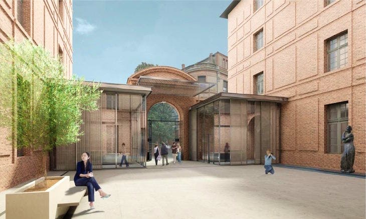 Rendering of the Ingres Bourdelle Museum