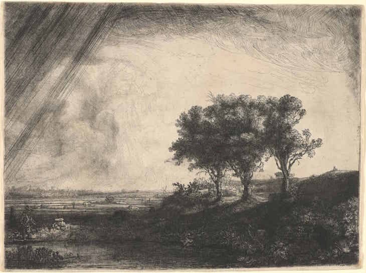 Landscape with Three Tress (1643), Rembrandt.
