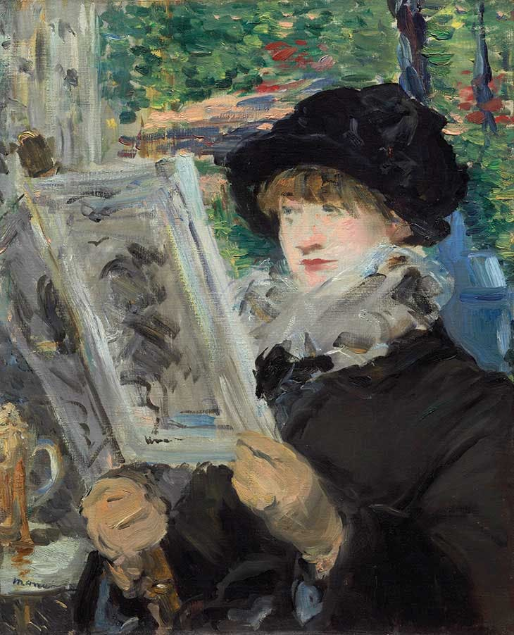 Woman Reading (c. 1880–81), Édouard Manet.