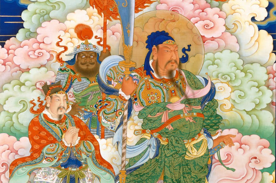 Guan Yu (detail; c. 1700), China.