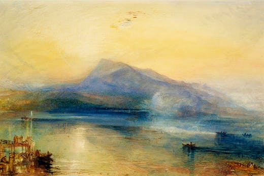 The Dark Rigi: The Lake of Lucerne, Showing the Rigi at Sunrise (1842), J.M.W. Turner.