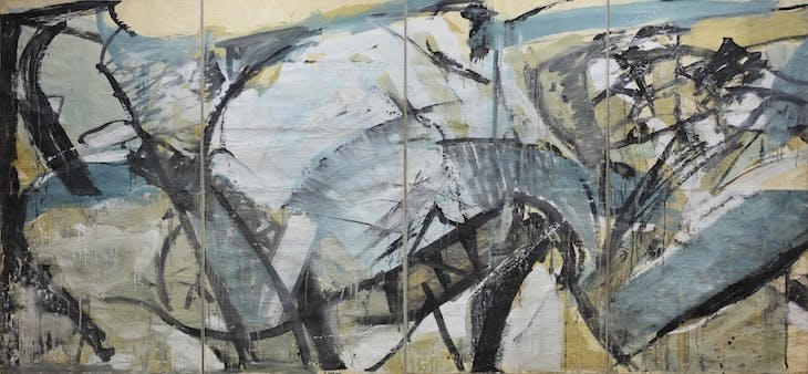 Sketch for Liverpool University Mural: The Conflict of Man with Tides and Sands (1960), Peter Lanyon.