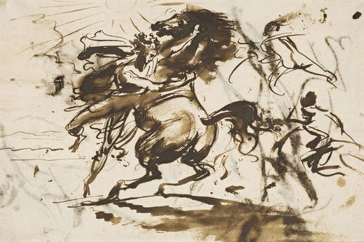 Alexander taming Bucephalus (c. 1800), Antoine-Jean Gros. Photo: © RMN-Grand Palais (musée du Louvre)/Michel Urtado