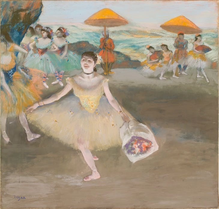 Danseuse au bouquet (1878), Edgar Degas.