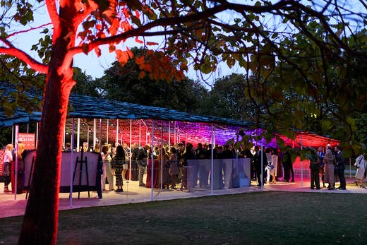 The Apollo 40 under 40 Middle East launch party at the Serpentine Pavilion, London, 2019