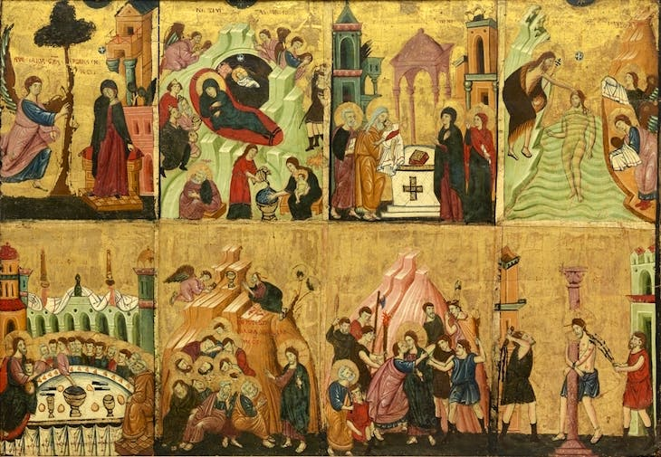 Eight Scenes from the Life of Christ (13th century), Roman painter.