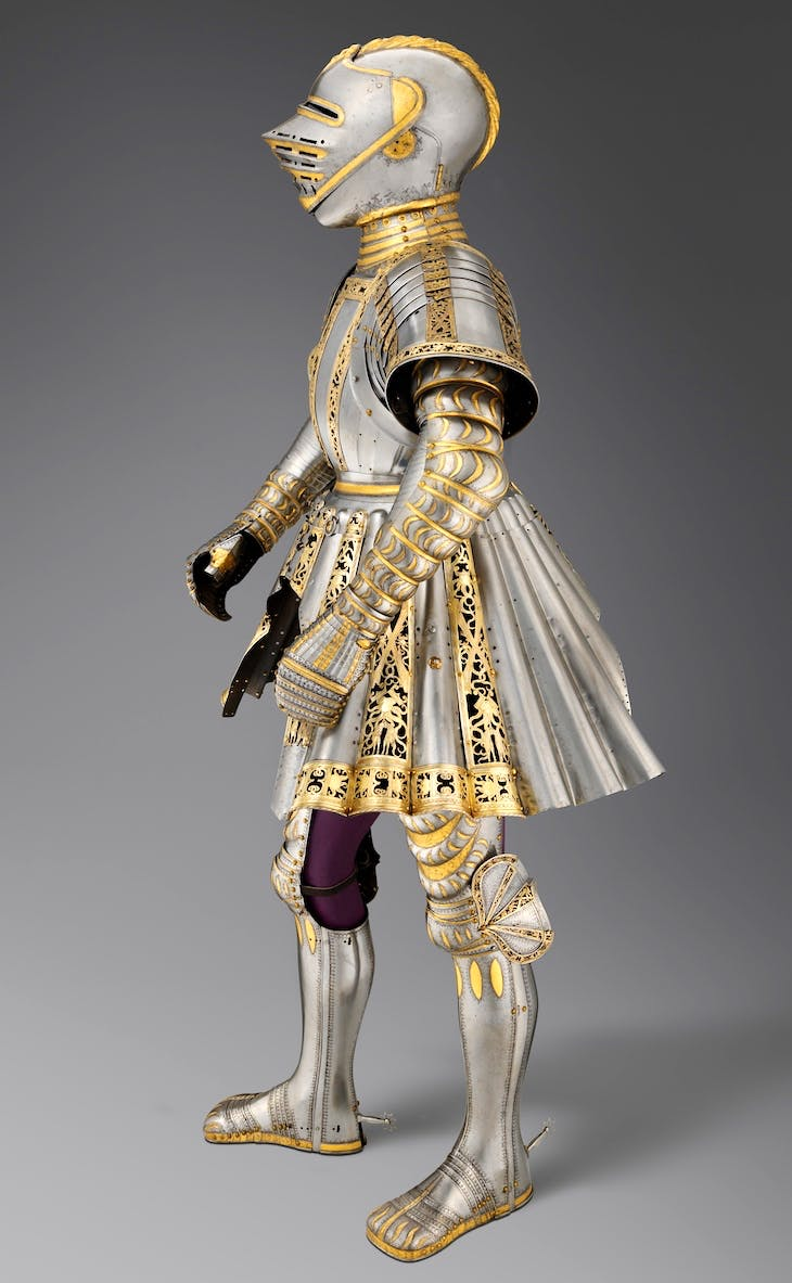 Ceremonial armour commissioned by Maximilian I for his grandson, Charles V (c. 1512–14), Conrad Seusenhofer.