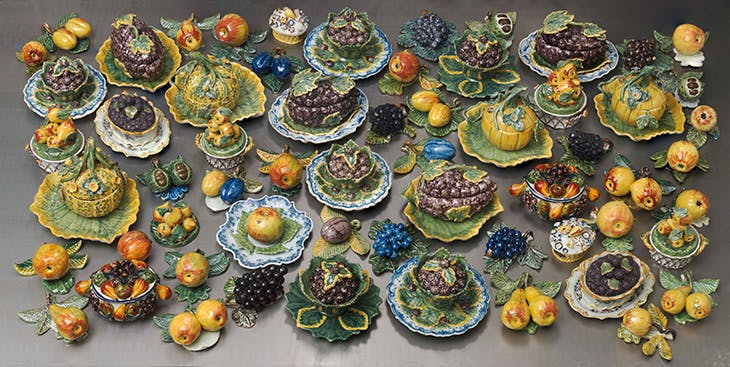 Fruit models and tureens, Delft, 1750–1800, tin-glazed earthenware. Gemeentemuseum den Haag – The Lavino Collection