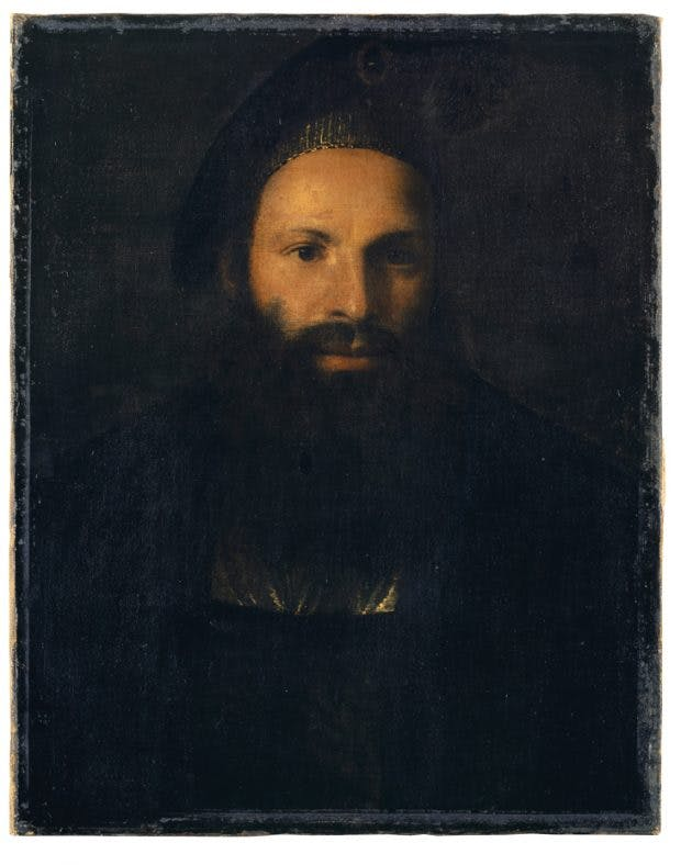 Portrait of Pietro Aretino, (1527), here attributed to Titian. Kunstmuseum Basel