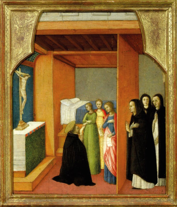 Saint Peter Marty with Saints Agnes, Catherine and Cecilia (c. 1450), Antonio Vivarini.