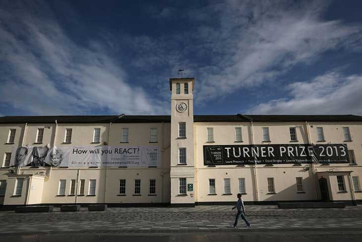 Ebrington Square, then the venue of the Turner Prize, in 2013.