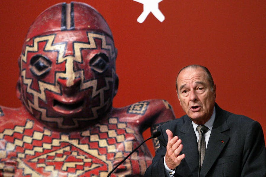 Jacques Chirac at the inauguration of the Musée du Quai-Branly in 2006.