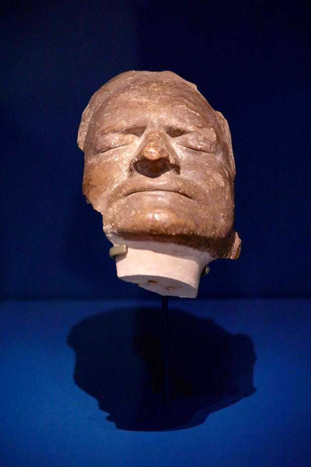 Isaac Newton's death mask in Science City at the Science Museum, London. Photo: © Jody KIngzett/Science Museum Group