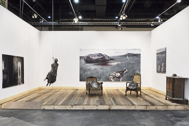 Tafereel (2019), Joann Louw, installation view at FNB Art Joburg 2019.