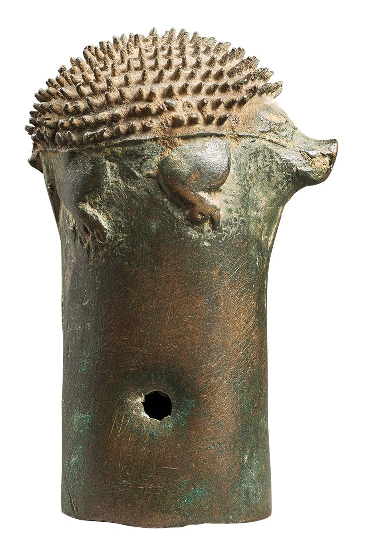 Pole top with hedgehog (4th–1st century BC), Eurasian Steppe, Ordos culture.