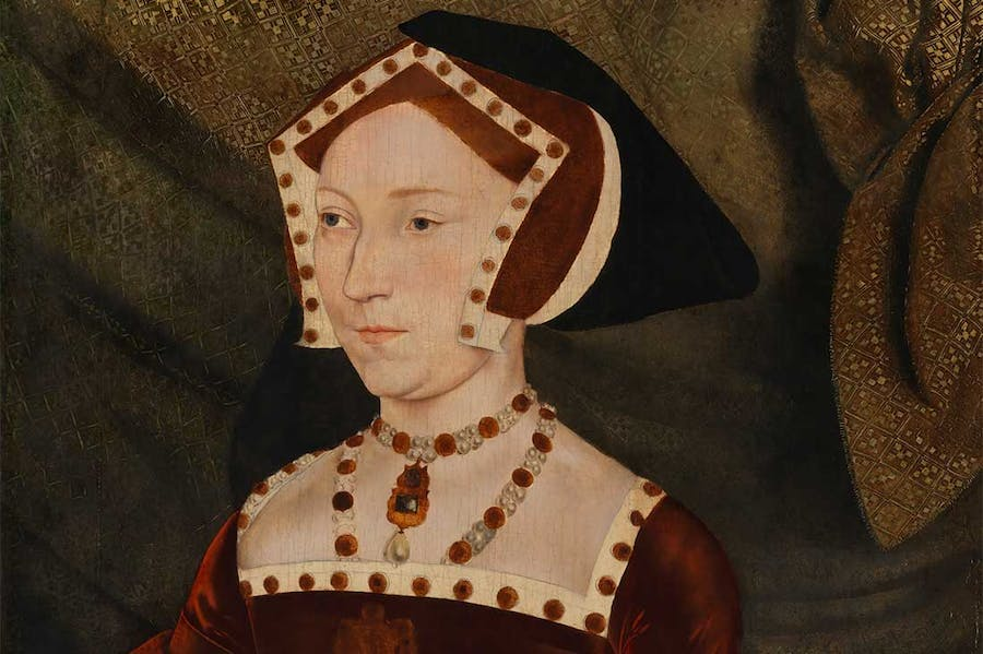 Jane Seymour (detail; c. 1537), after Hans Holbein the Younger.