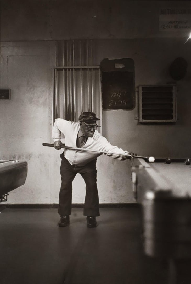 Pool Player, Pittsburgh, PA (c. 1993), Ming Smith.