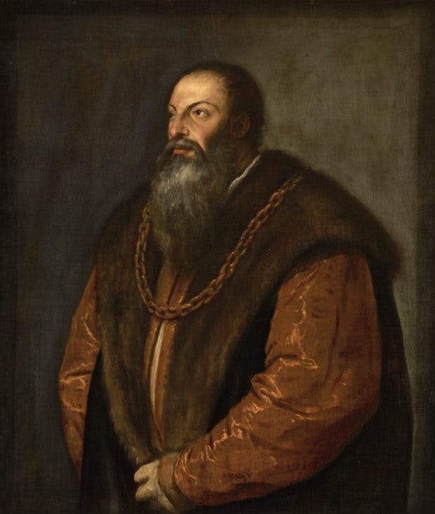Portrait of Pietro Aretino, (c. 1537), Titian. The Frick Collection, New York.