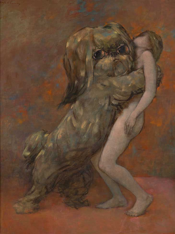 Tableau Vivant (Living Picture) (1954), Dorothea Tanning. National Galleries of Scotland