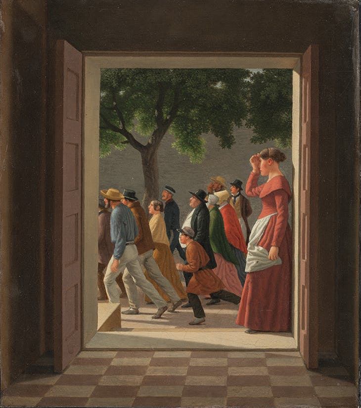 View through a Door to Running Figures (1845), C.W. Eckersberg