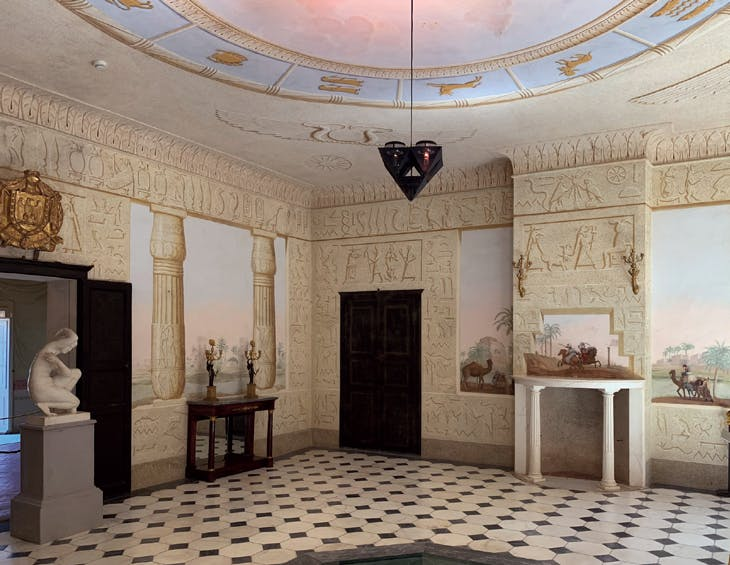 The Egyptian Room at the Villa di San Martino, Elba