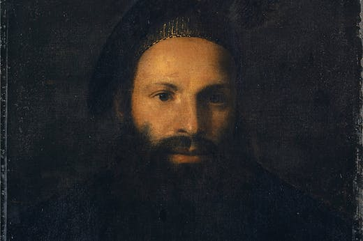 Portrait of Pietro Aretino (detail), (1527), here attributed to Titian. Kunstmuseum Basel