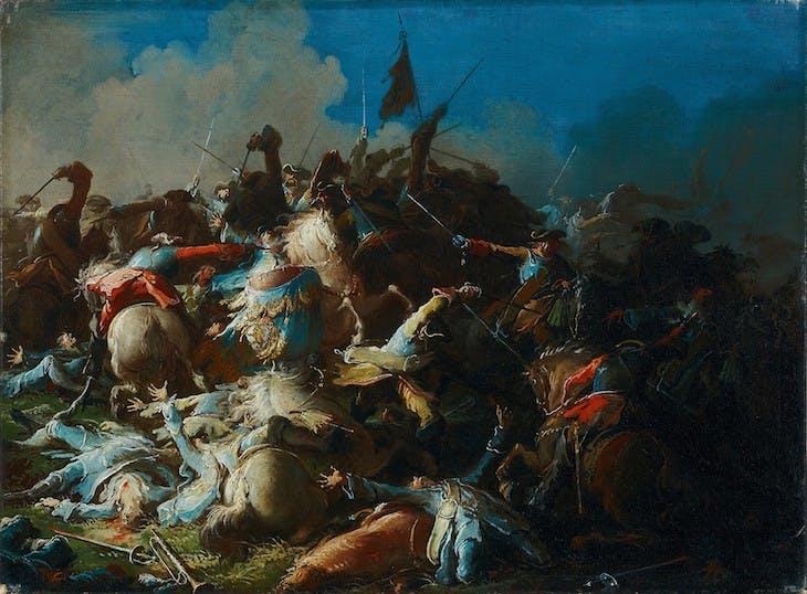 The Battle of Schärding (c. 1742), Josef Ignaz Mildorfer.