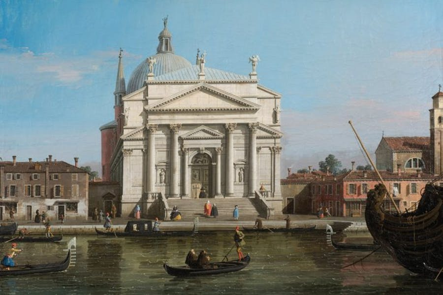 The Redentore, Venice (detail; c. 1746), Canaletto.