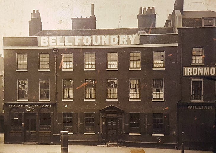 The Whitechapel Bell Foundry, photographed in 1906.