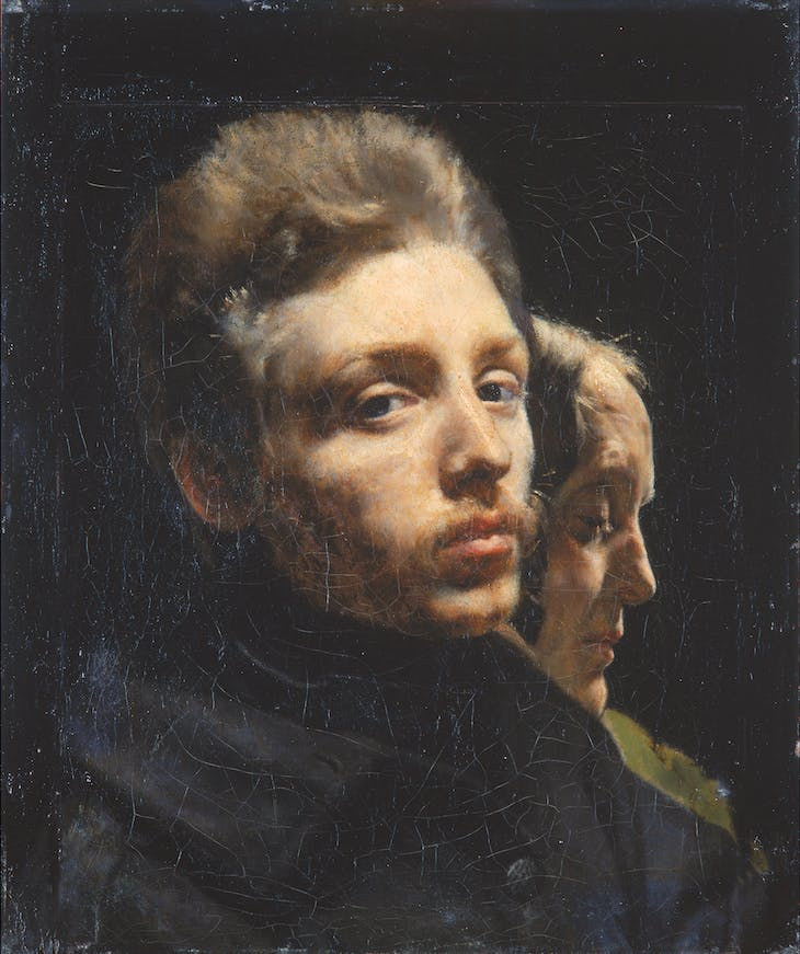 Portrait of the Artist and his Mother (c. 1846), Félix Trutat.