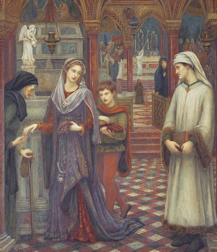 The First meeting of Petrarch and Laura