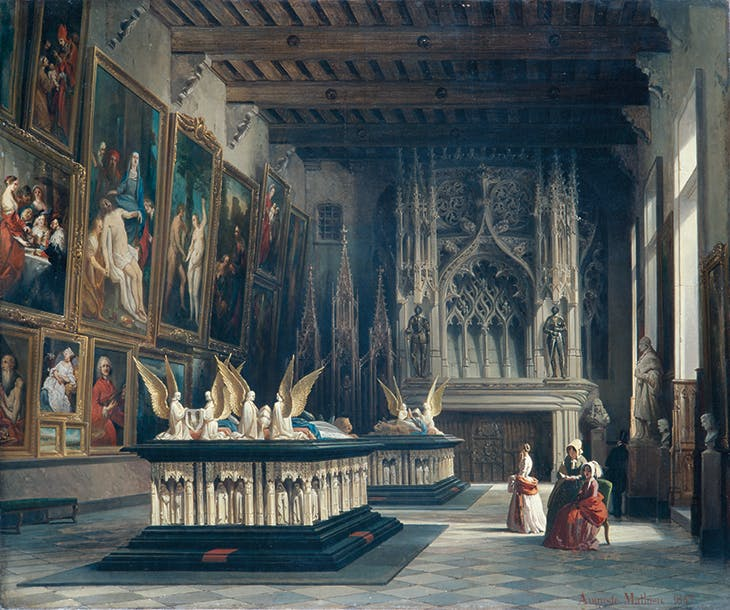 The Salle des Gardes at the Museum of Dijon in 1847 (1847), Auguste Mathieu.