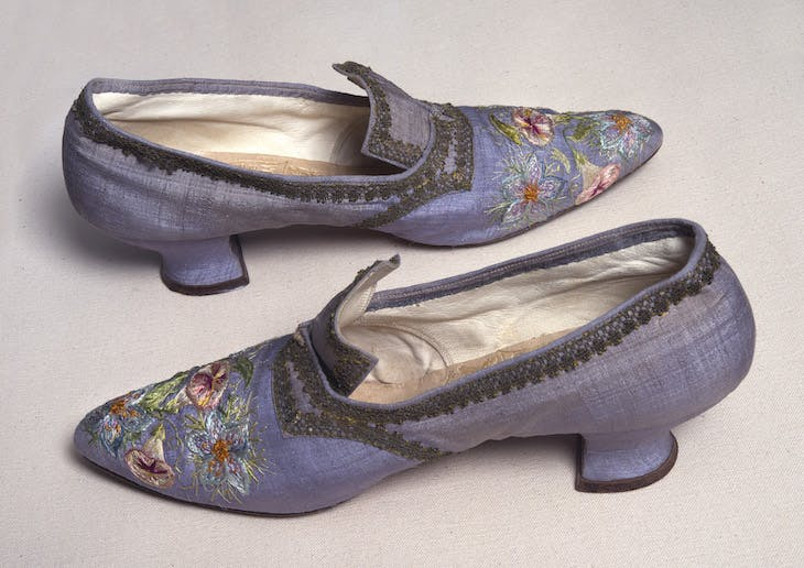 Embroidered shoes (n.d.), Marie Spartali Stillman.