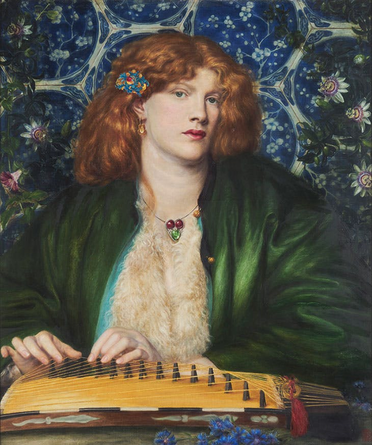 The Blue Bower (with Fanny Conforth as model; 1865), Dante Gabriel Rossetti. Barber Institute of Fine Arts, University of Birmingham