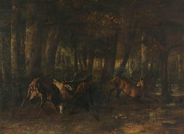 Spring Rut. The Battle of the Stags (1861), Gustave Courbet. Musée d'Orsay, Paris. Photo: © RMN Grand-Palais (Musée d'Orsay)/Hervé Lewandowski