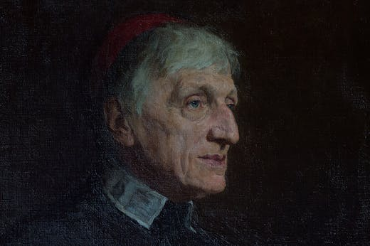 Detail of the portrait unveiled at Birmingham Oratory in 2019.
