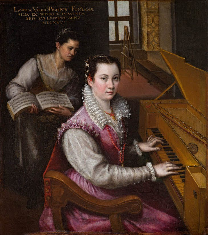 Self-Portrait at the Spinet (1577), Lavinia Fontana.