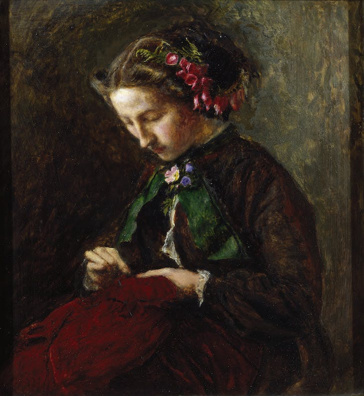 Effie with Foxgloves in her Hair (The Foxglove) (1853), John Everett Millais.